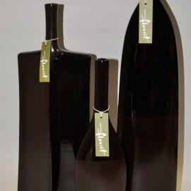 Tall chocolate specimen vase
