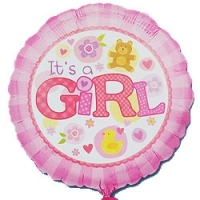 Baby Girl Balloon - Click to enlarge picture.