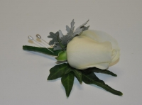 Standard White Rose Buttonhole - Click to enlarge picture.
