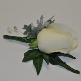 Standard White Rose Buttonhole